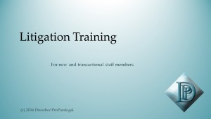 Litigation Training